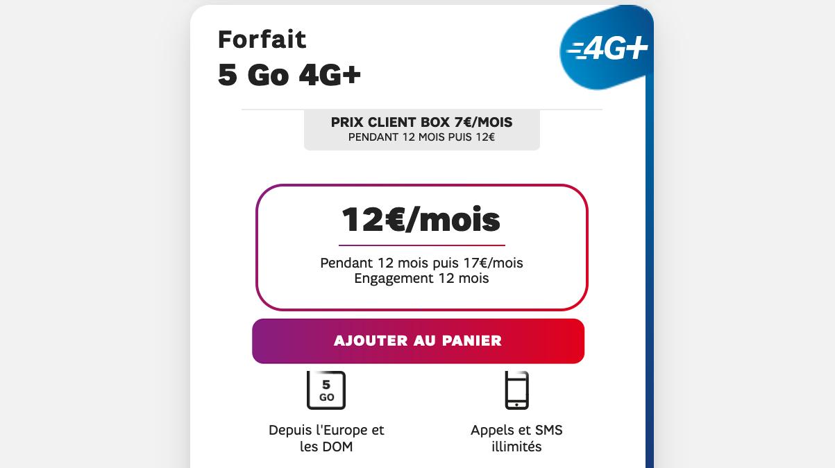 forfait 4G 5go sfr