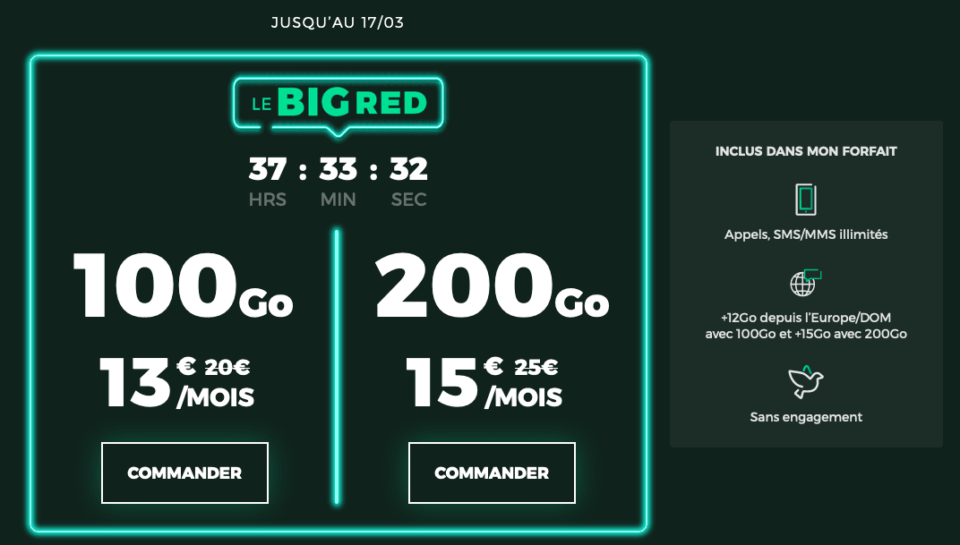 forfait 4G big red