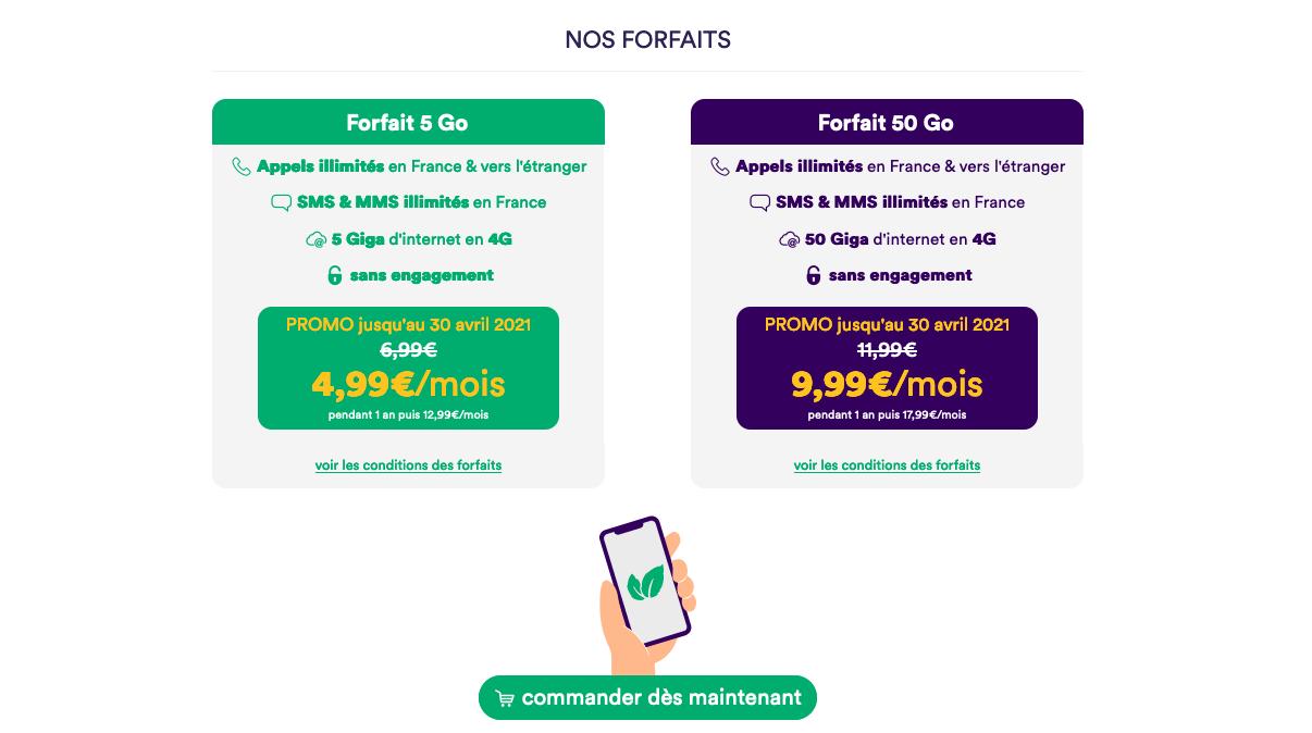forfait 5 Go Mint Mobile