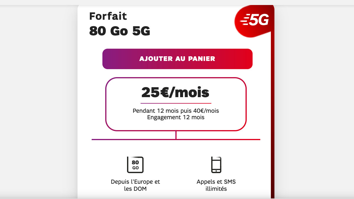 forfait 5G SFR