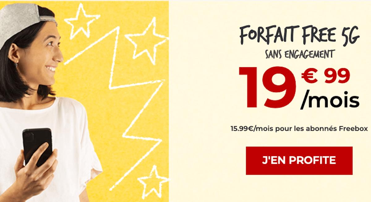 forfait 5G free 150go