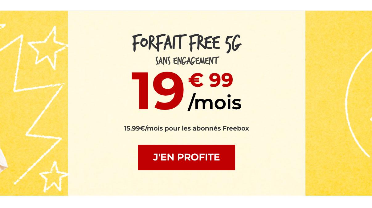 forfait 5G free mobile