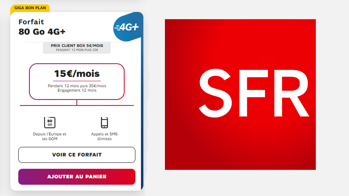 Le forfait à 15€ de SFR