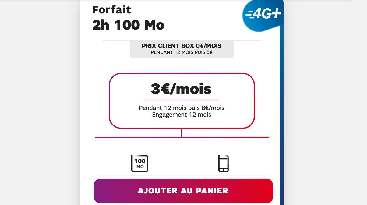 forfait bloque 100 mo SFR