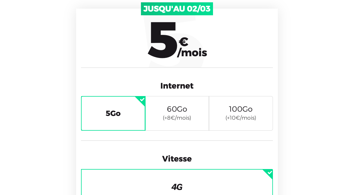 forfait mobile 5 go red by sfr