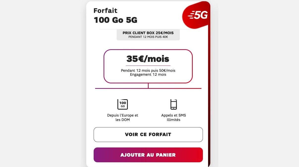 forfait mobile 5G sfr