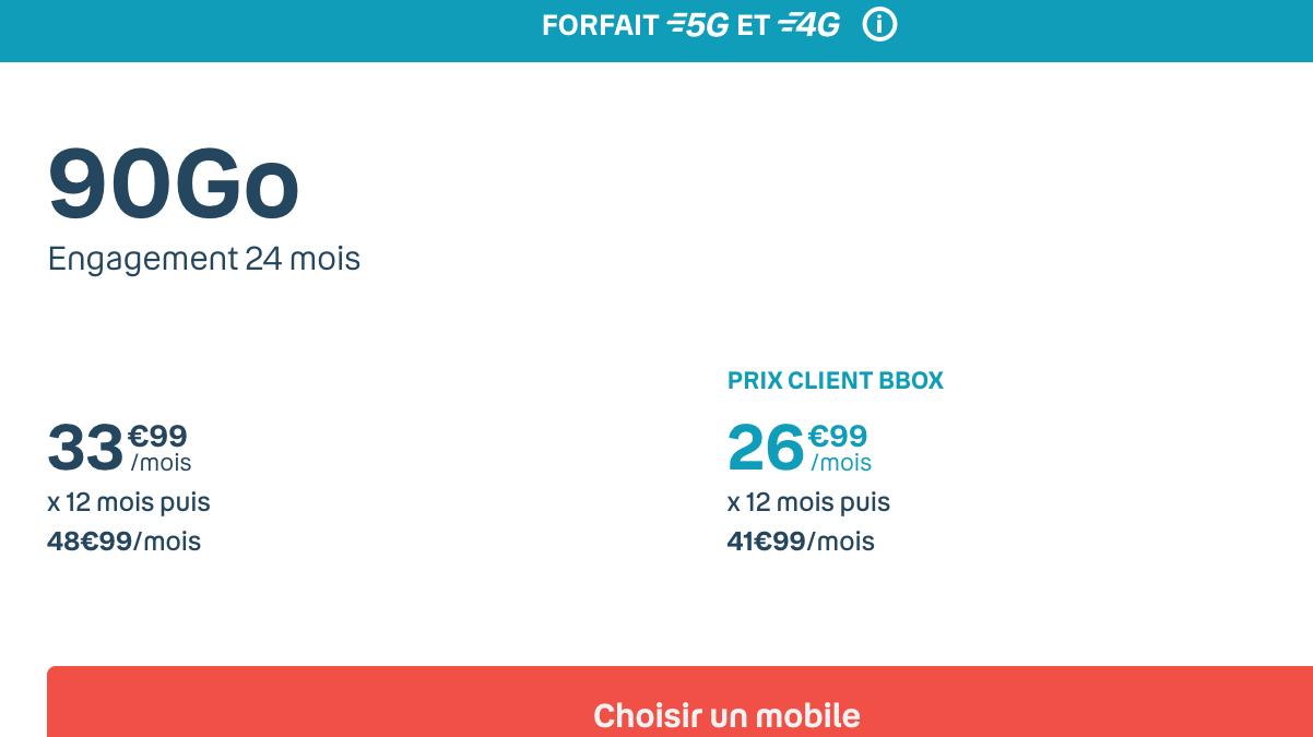 forfait mobile 90 Go bouygues telecom