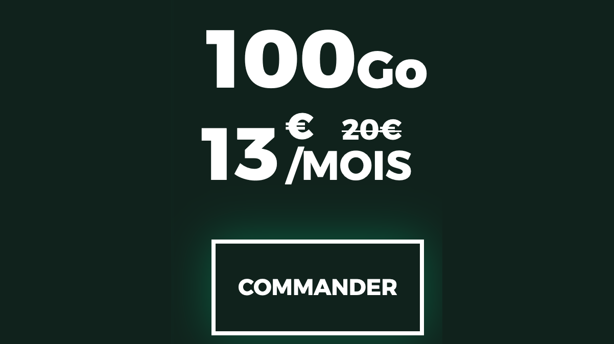 forfait sans engagement red by sfr 100go