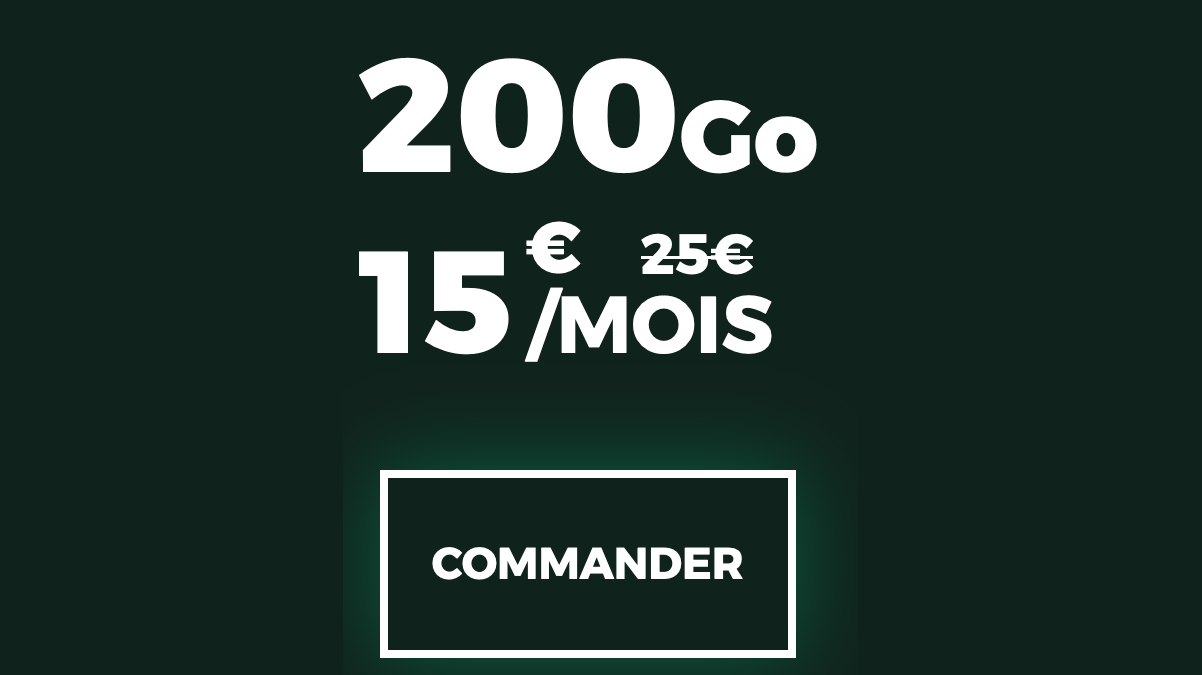 forfait sans engagement red by sfr 200 go