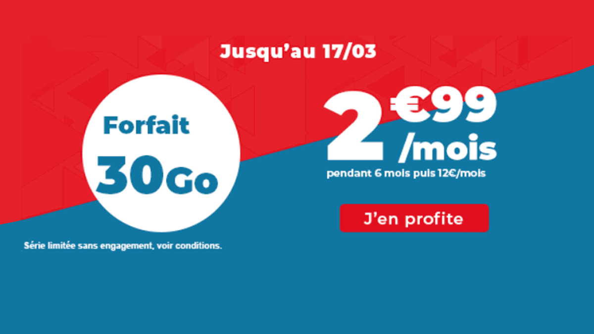 Le forfait 30 Go d'Auchan Télécom