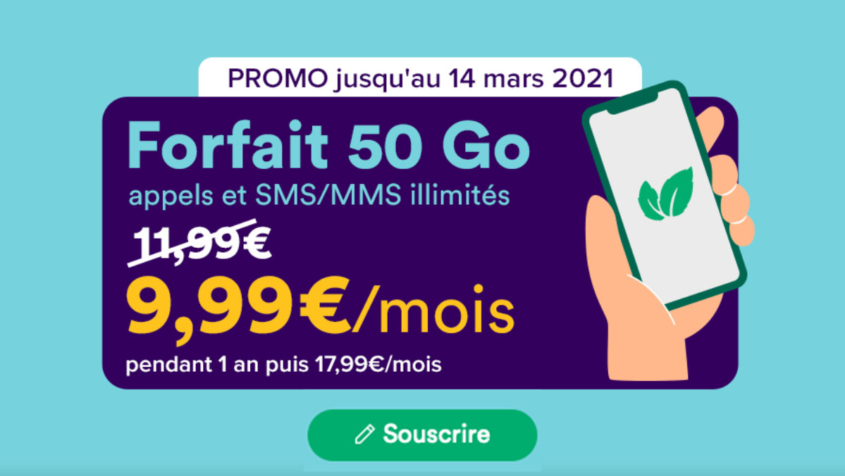 forfaits illimites Mint Mobile 50 go