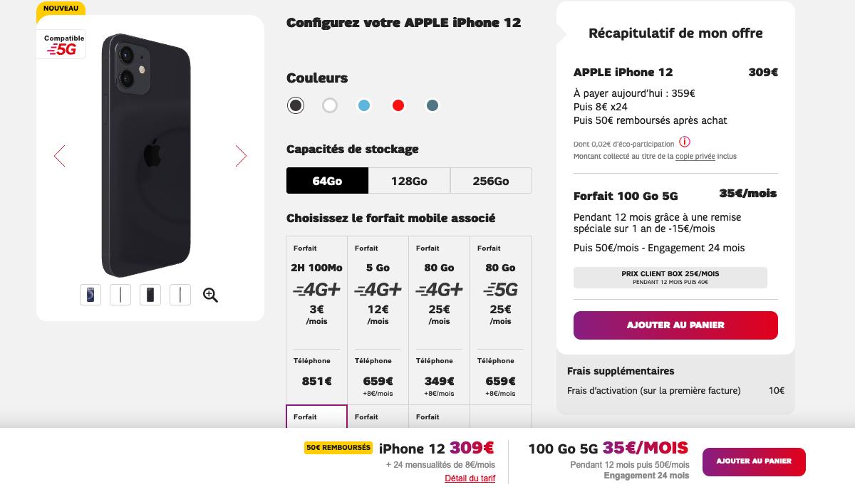 iphone 12 SFR