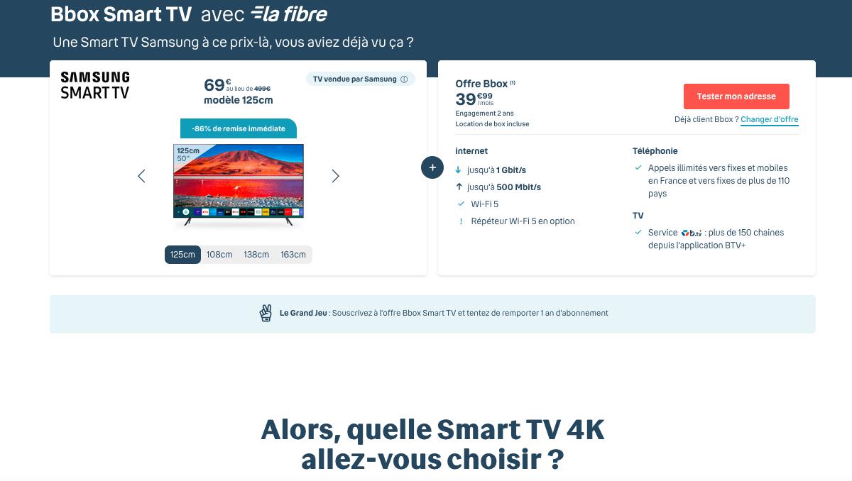 offre bbox smart tv bouygues telecom