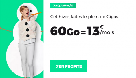 Promo forfait 60 Go RED by SFR.