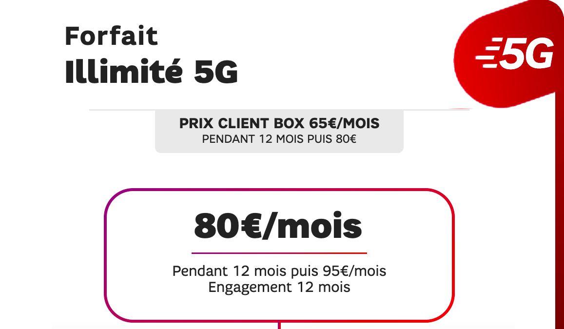 sfr forfait data illimitee 5G