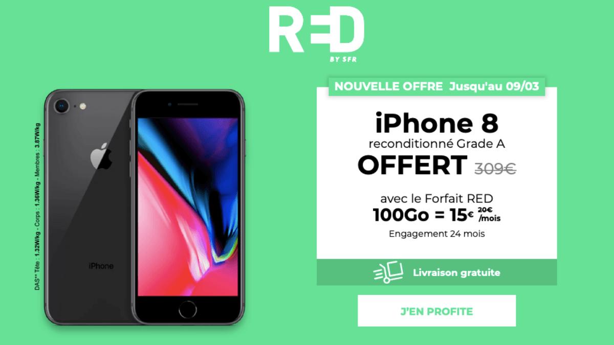 vente privée iPhone 8 et forfait 100 Go
