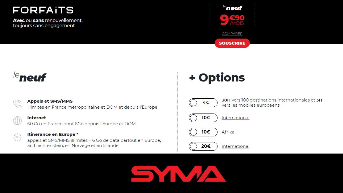 Syma Mobile 60 Go à 9,90€