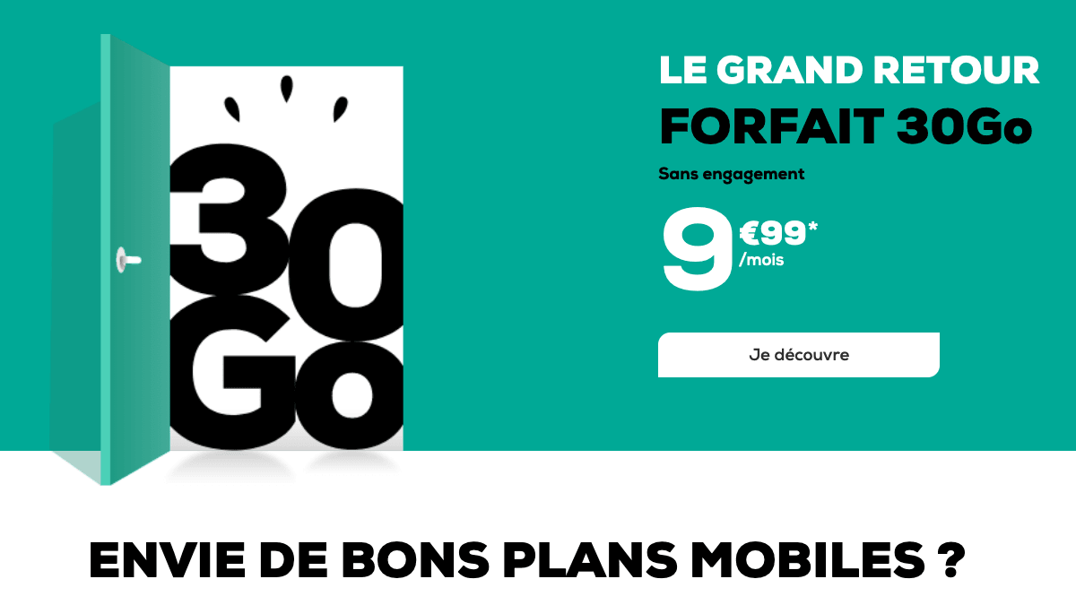 l'offre 4G 30 Go