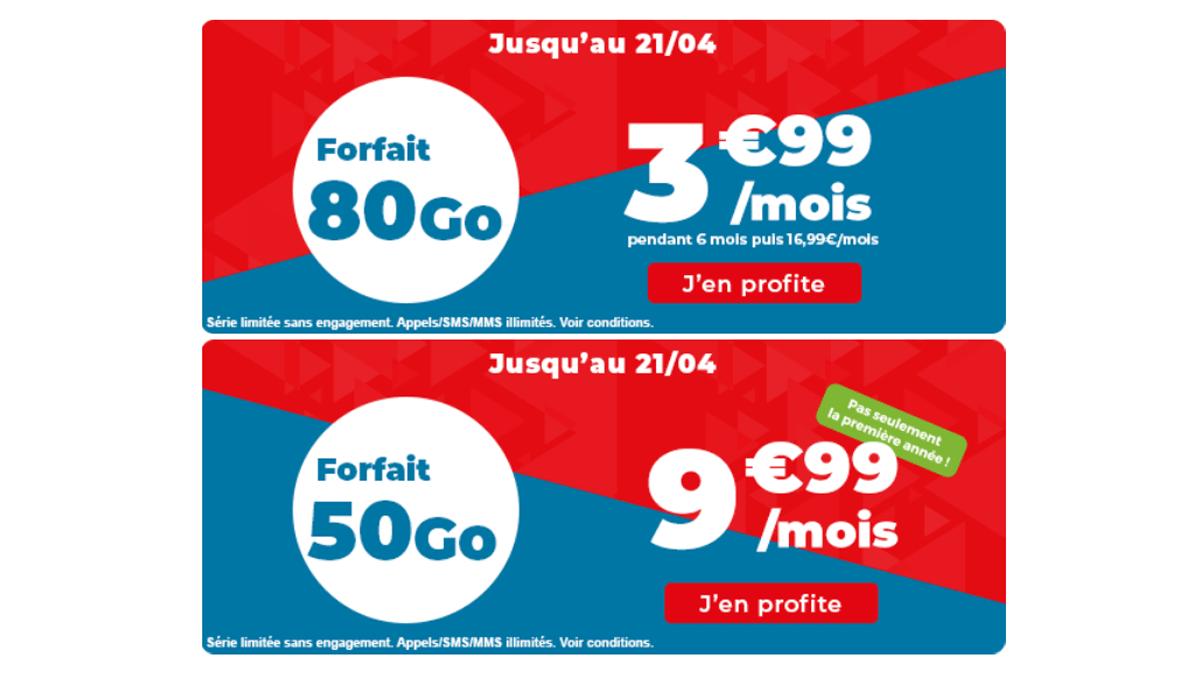 Forfait en promo Auchan télécom
