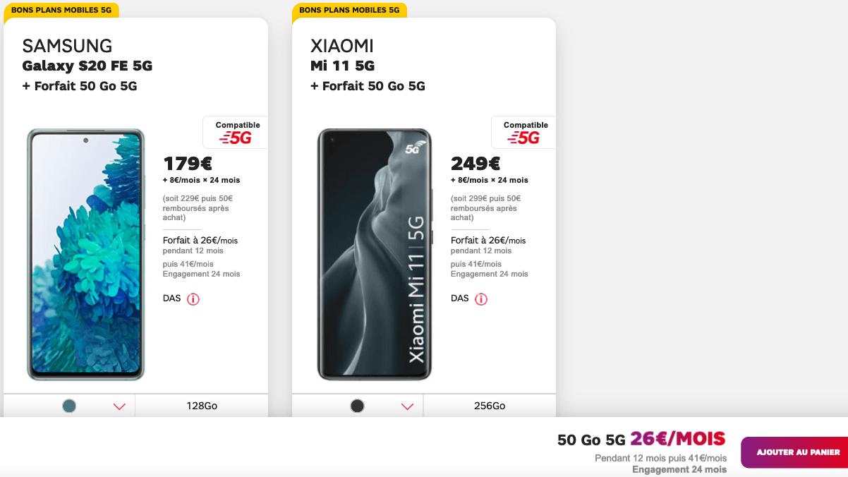 Forfait 5G avantages mobiles