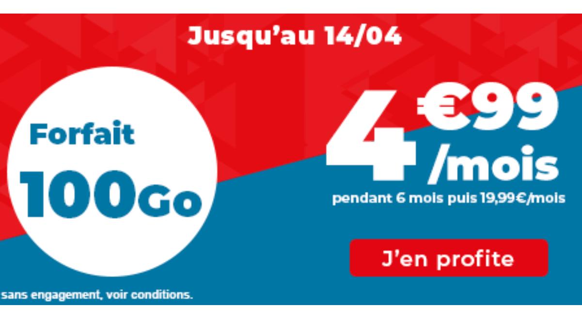 Forfait 100 Go promo Auchan télécom