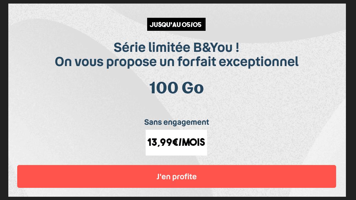 100 Go pour 13,99€/mois