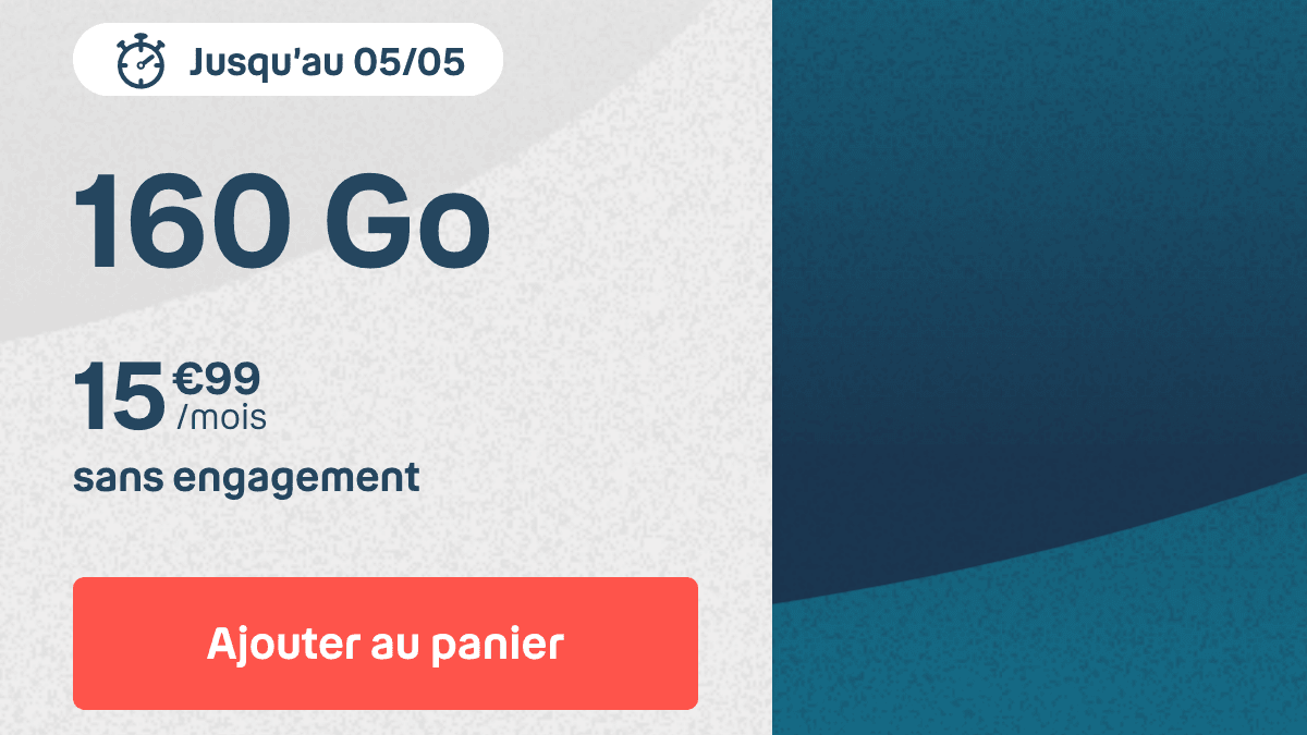 Forfait mobile B&You 160 Go