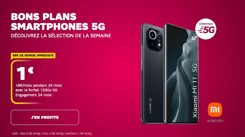 Des smartphones 5G dès 1€