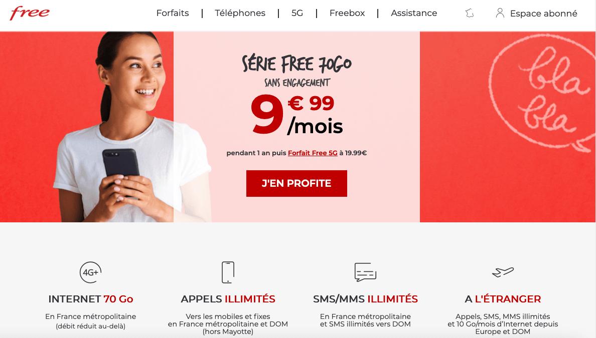 Série Free à 9,99€/mois
