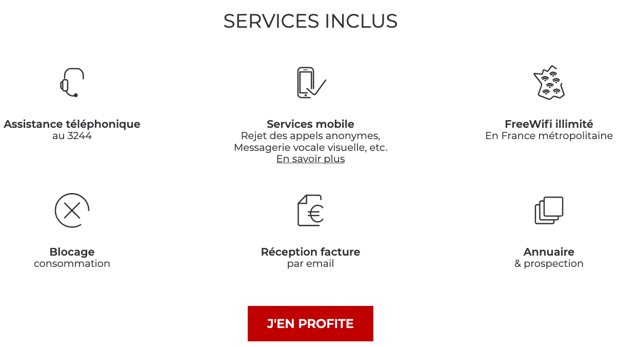 avantages offre mobile free
