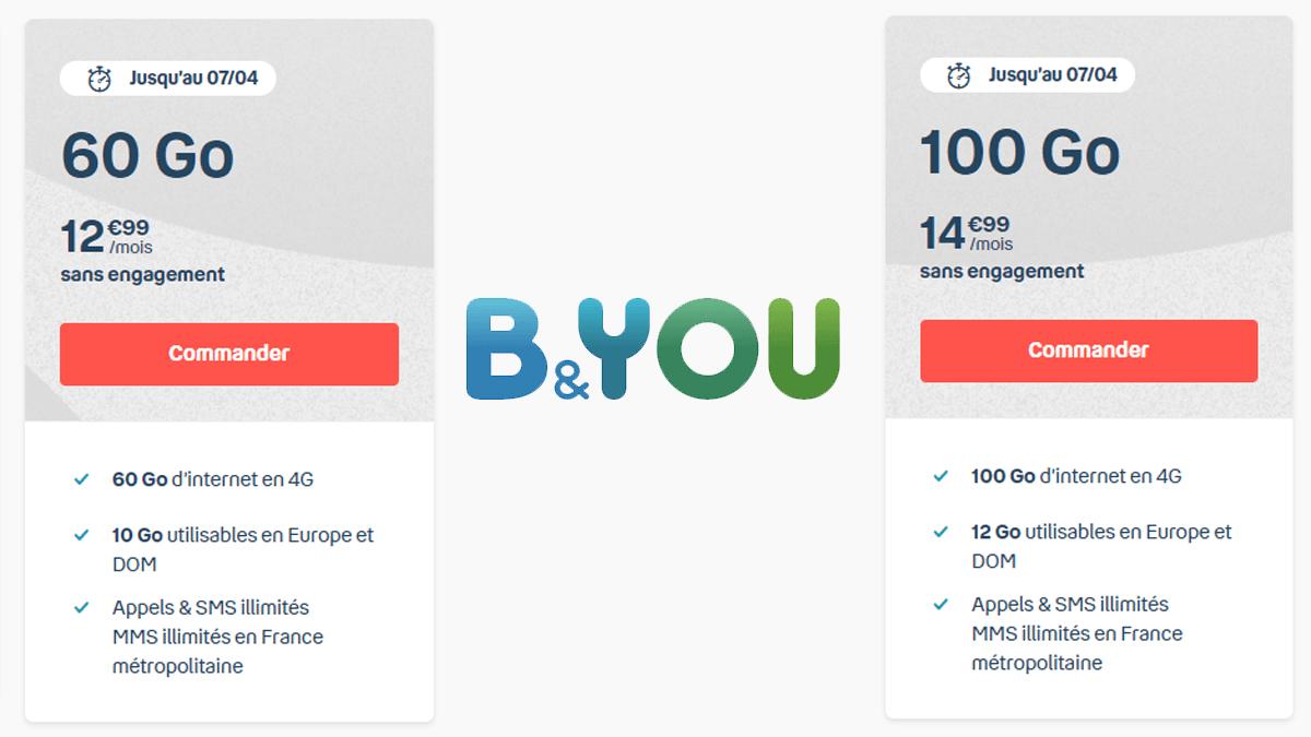 60 ou 100 Go avec B&YOU