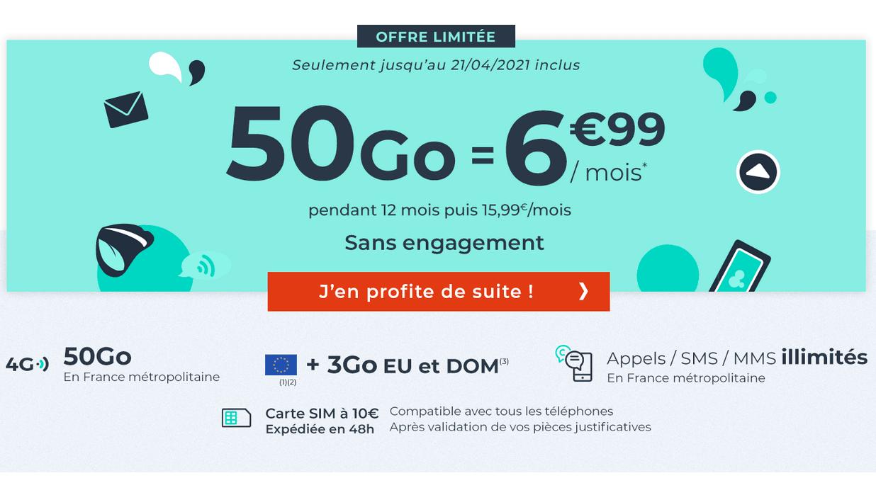 forfait 50 go cdiscount mobile