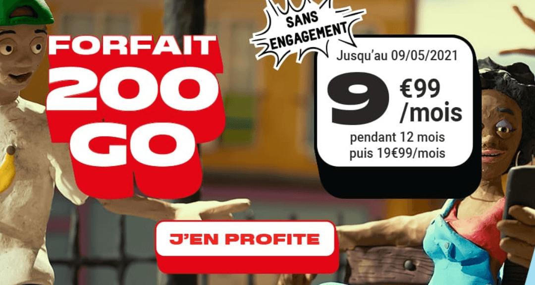 le forfait 200 Go en promo de NRJ Mobile