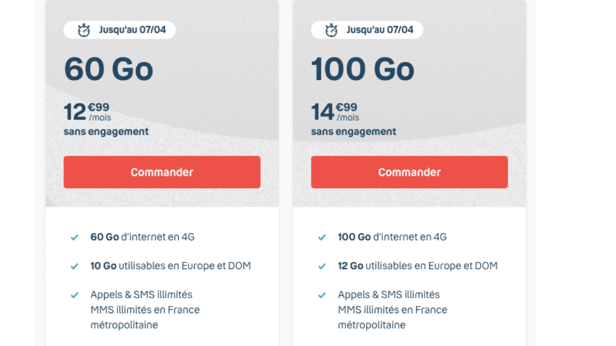 forfait mobile 60 et 100 go b and you