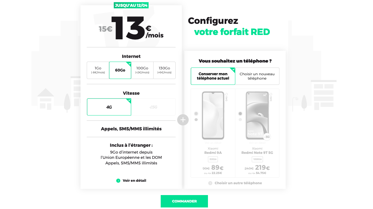 forfait mobile pas cher RED