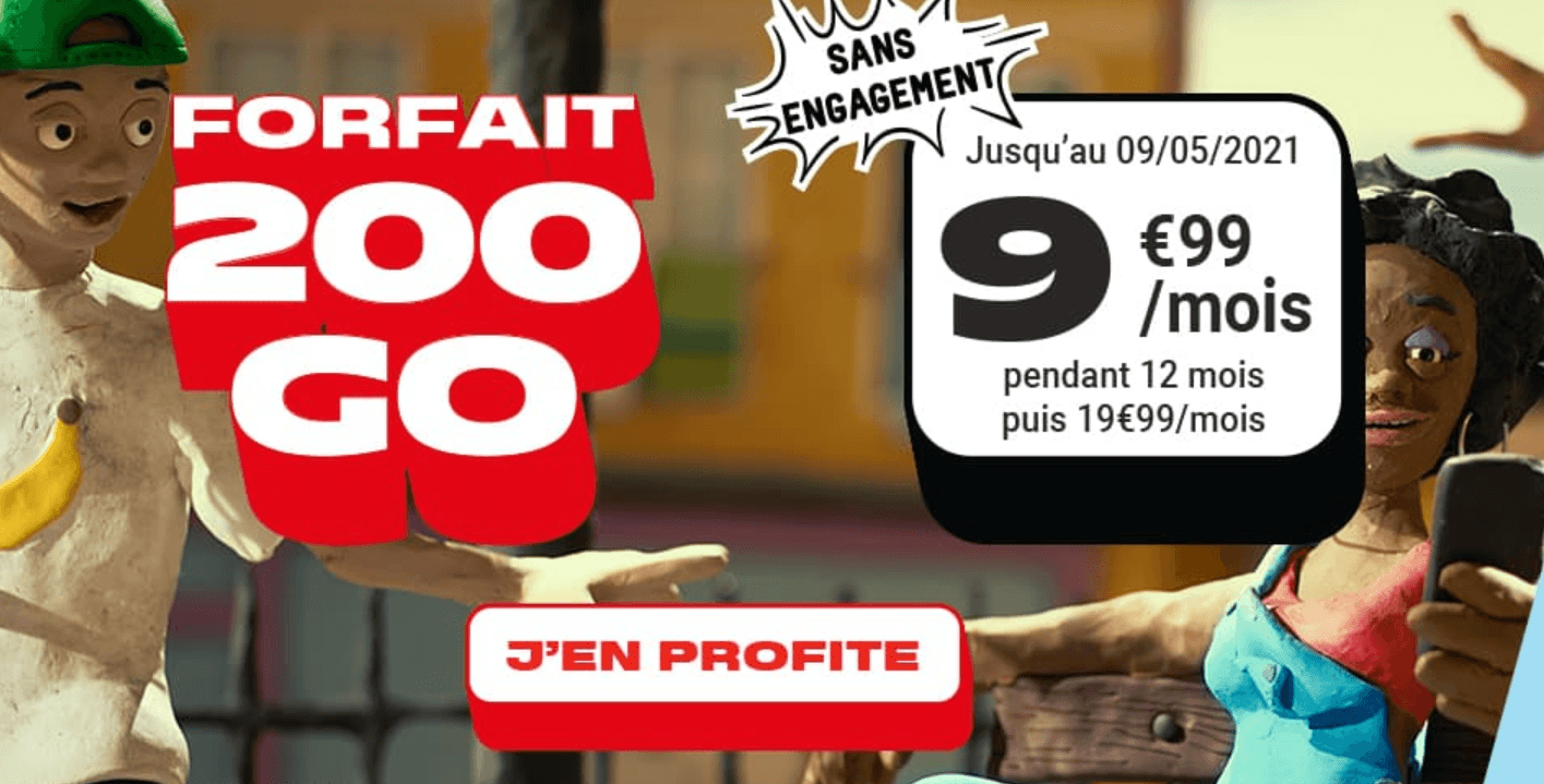 Le forfait 4G 20 Go de NRJ