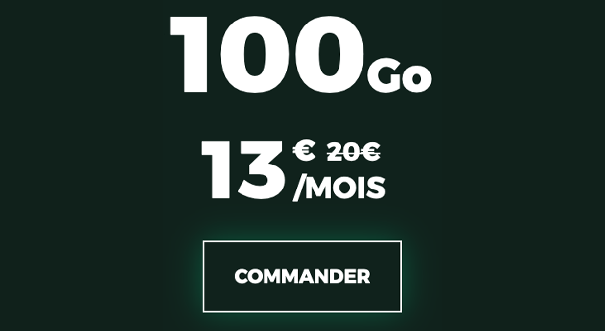 forfaits mobiles pas chers 100 Go RED