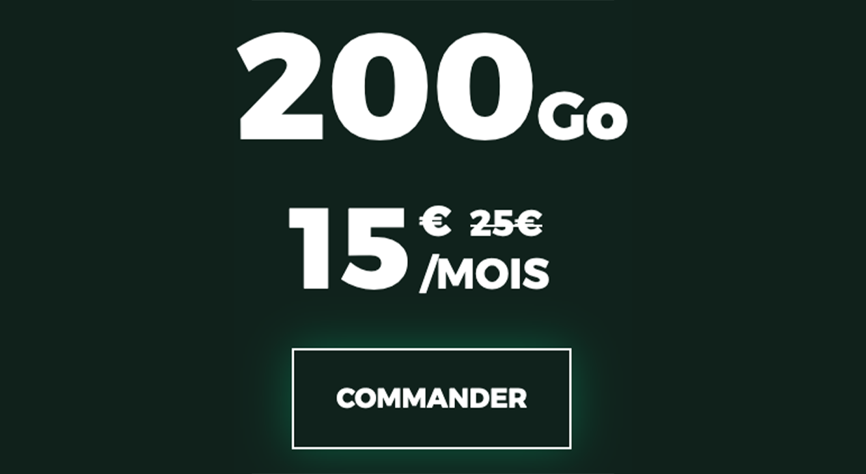 forfaits mobiles pas chers 200 Go RED