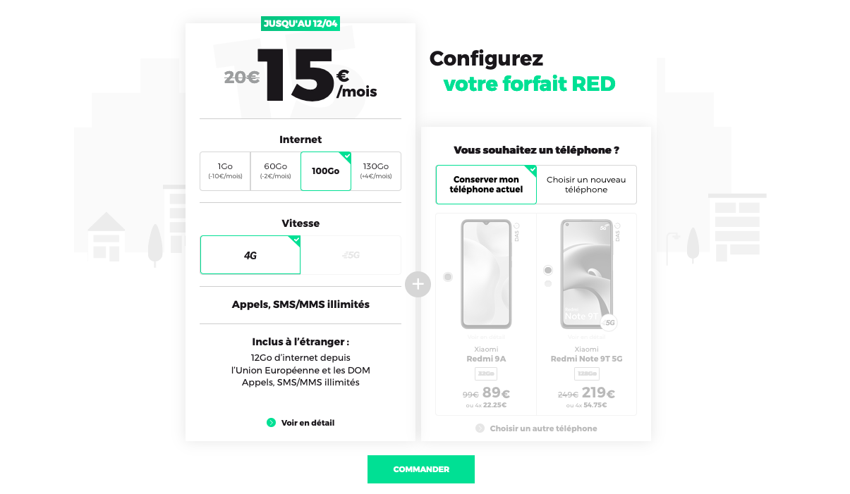 forfaits mobiles red 100 Go