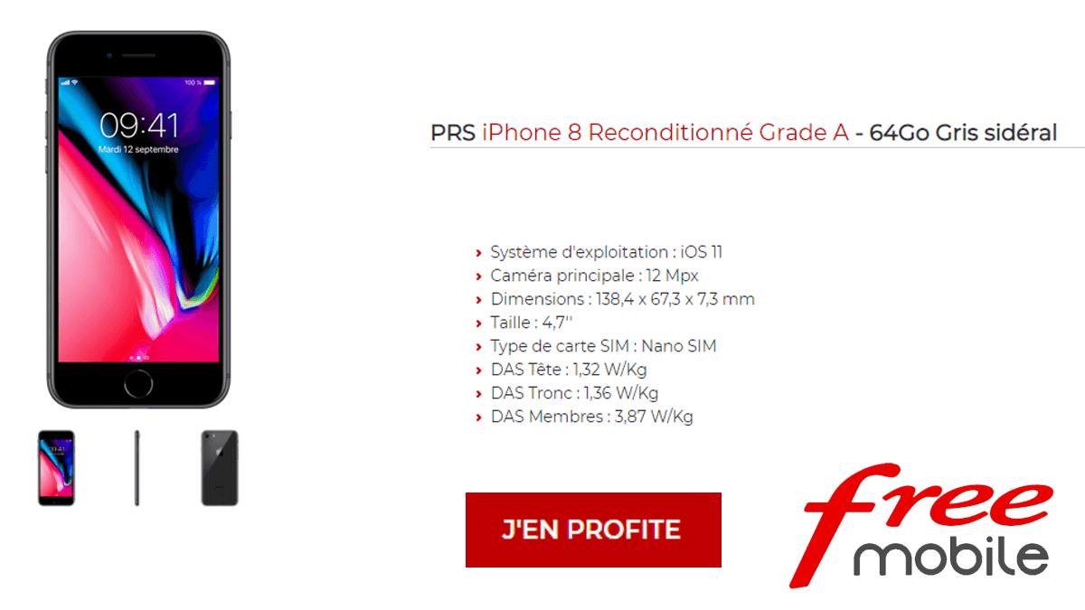 iPhone 8 avec Free Mobile