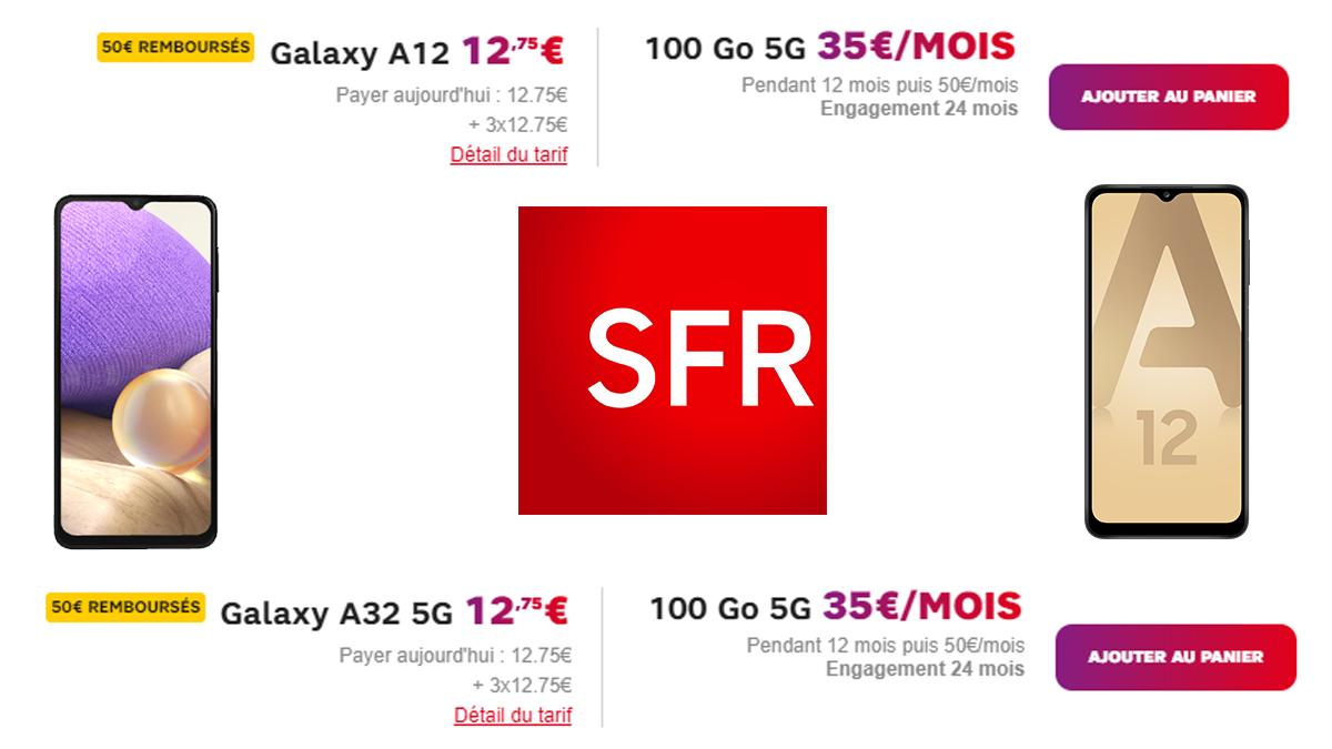 Promo SFR + smartphones