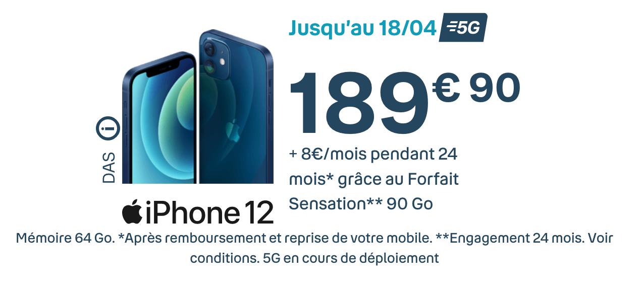 prix iPhone 12