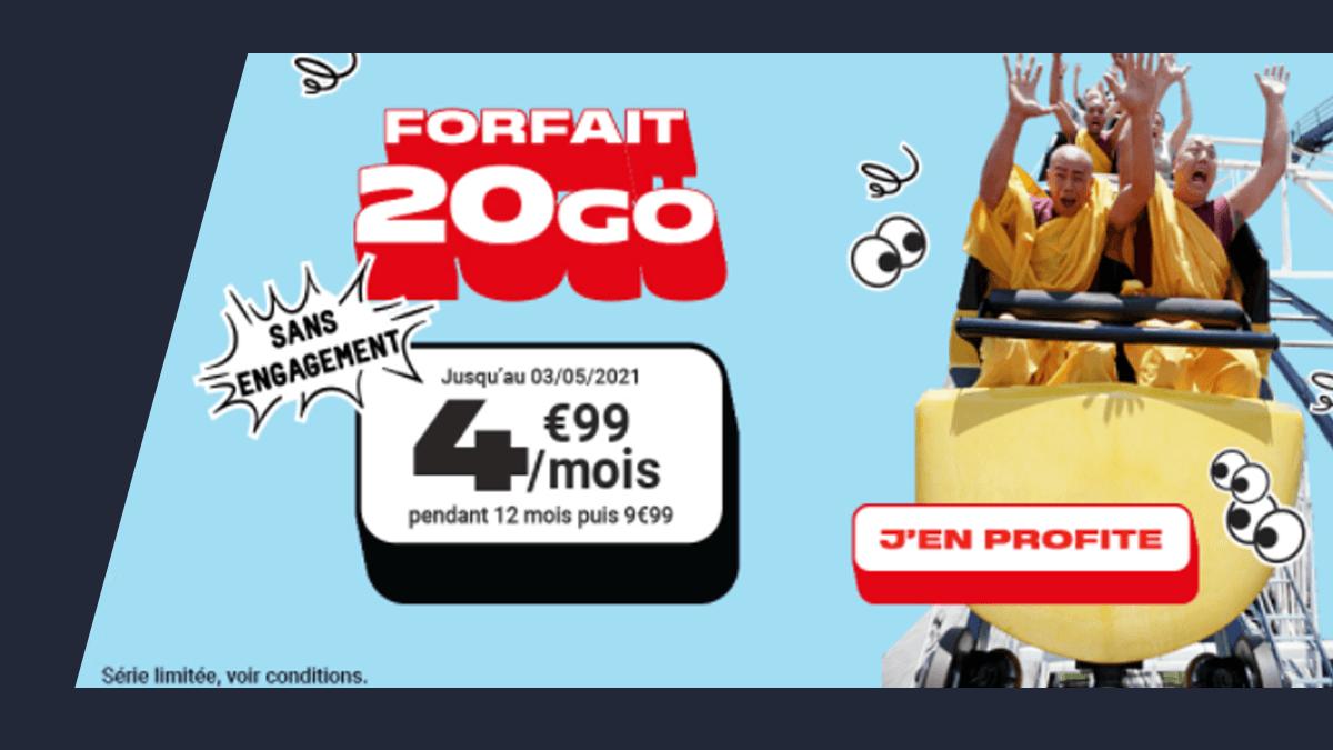 Forfait 20 Go NRJ