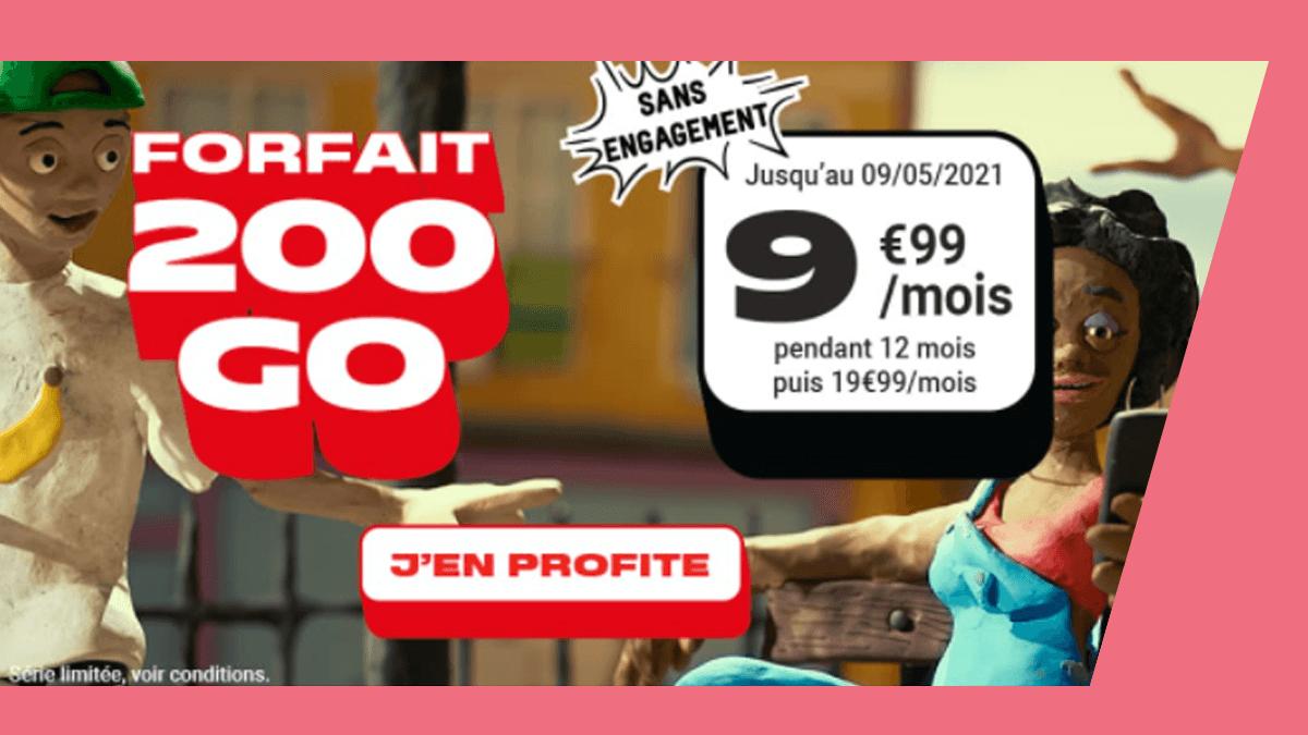 Forfait 200 Go NRJ