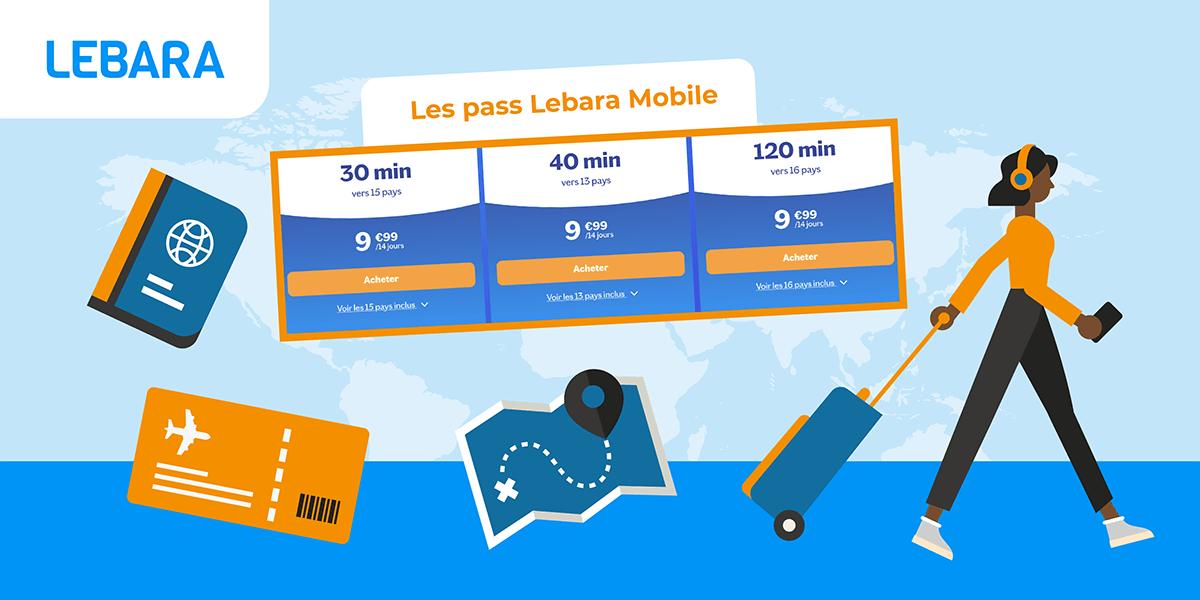 Pass internationaux Lebara Mobile.