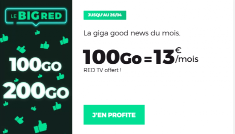 Promo forfait Big RED by SFR.