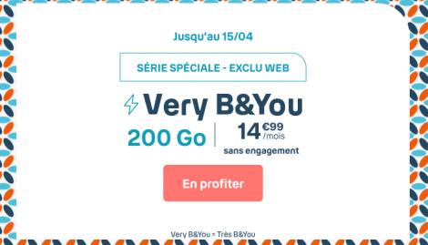 Promo forfait 200 Go B&YOU.