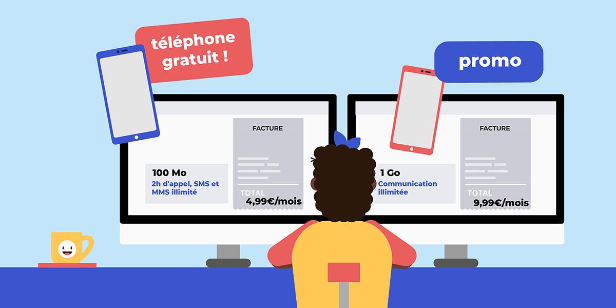 Téléphone gratuit en vente privée.