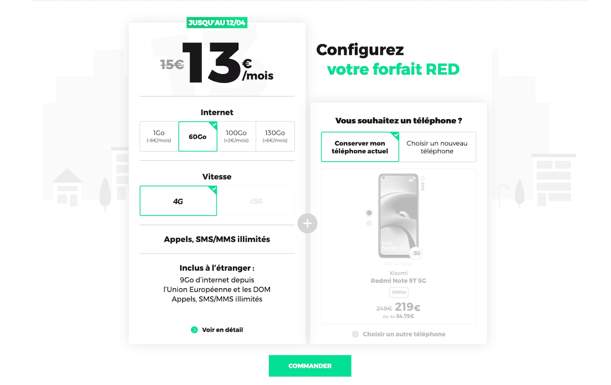 red forfaits 4G