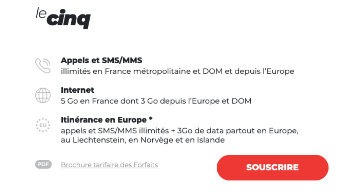 syma mobile forfait moins de 5 euros